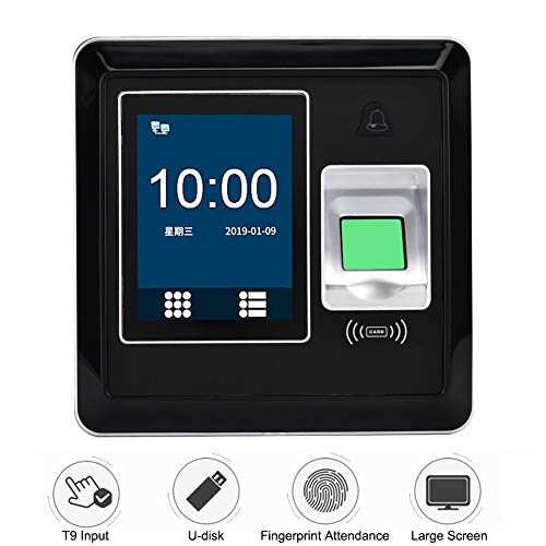 2.8 inch Biometric Fingerprint Password Attendance Machine Employee Checking-in Recorder Time Clock Fingerprint/IC Card/Password Electronic Time Attendance Clock