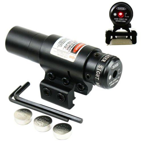 Ledsniper Hot Tactical Red Laser Beam Dot Sight Scope for Gun Rifle Pistol Picatinny Mount (Hot Dot Red)