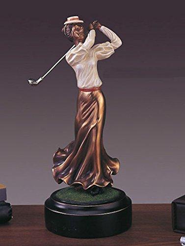 Lady Golfer Bronze Figurine- 4.5