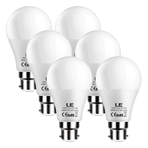 Le Ampoule Led B22 9w 60w Ampoule Incandescente 800lm 5000k