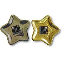 2 Pack Star Shaped Paper Plates 12 Silver 12 Gold