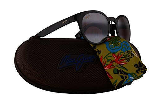 Maui Jim Keanae Sunglasses Red Black Tortoise w/Polarized Maui Rose Lens - Stingray Jim Tortoise Maui