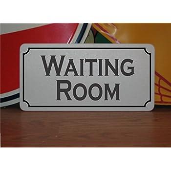 """Ladies Waiting Room enamel steel wall sign  9/"""" x 5/"""" dp"""