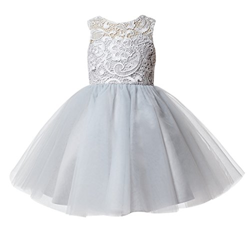 princhar Lace Tulle Flower Girl Dress Wedding Party