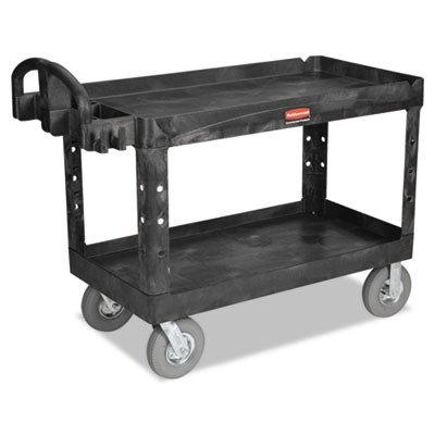 RCP4546BLA - Heavy-Duty 2-Shelf Utility Cart