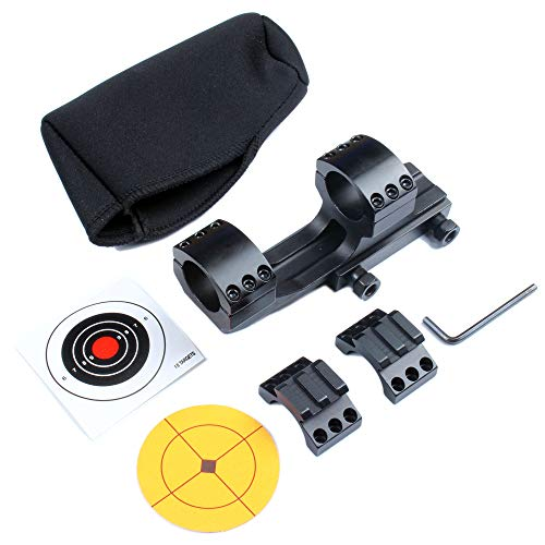 Thorn 1 inch One Piece Cantilever Scope Mount with Picatinny Rail Tops with Scope Mount Cover