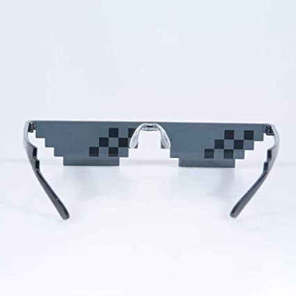a11e7a4a6b Buy EDTara Men Women Goggles Glasses Thug Life 8-Bit MLG Pixelated  Sunglasses for Minecraft Players 6 Grid Online at Low Prices in India -  Amazon.in