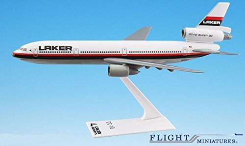 Laker Airways DC-10 Airplane Miniature Model Plastic Snap-Fit 1:250 Part# ADC-01000I-017 Airways Dc 10 Model