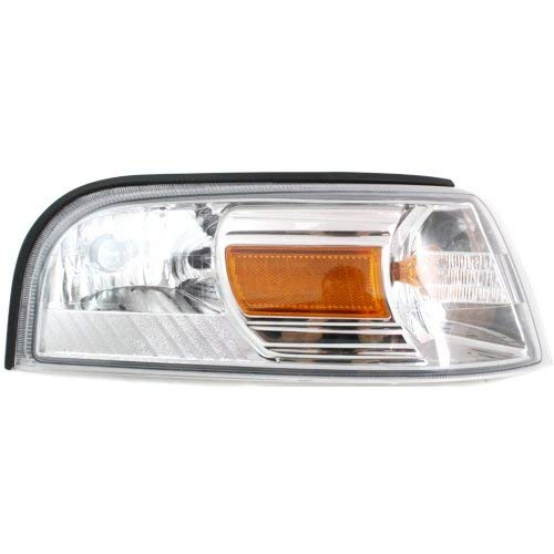 Corner Light Compatible with Mercury Grand Marquis 2006-2011 Passenger Side Assembly Park/Signal/Side Marker Lamp