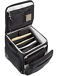 """Ultimate Workmate Rolling Briefcase with 15"""" Laptop Pocket, Black"""