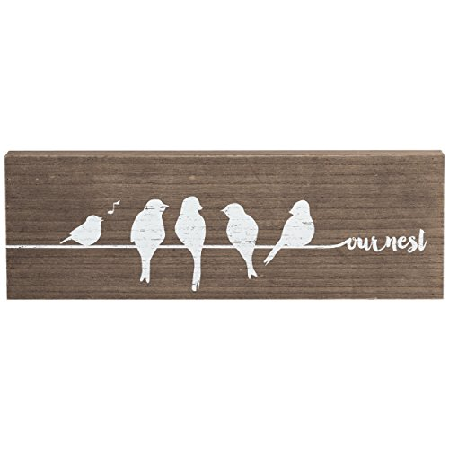 "Prinz 18"" x 6"" Potting Shed ""Our Nest"" Tweet Retreat Wood..."
