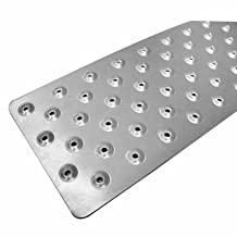 HandiTreads IT RNST-100t Plain Aluminum Non-Slip Treads, Silver