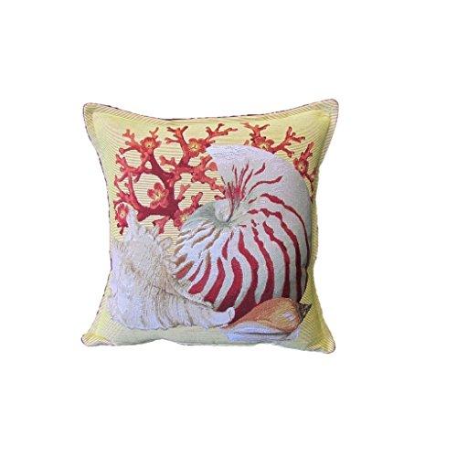 Corona Decor Conch Shell Design Decorative Pillow (Corona Patio Furniture)