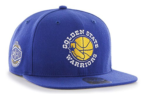 NBA Golden State Warriors Unisex NBA Golden State Warriors '47 Sure Shot Snapback Adjustable Hat, Royal-1989 Logo, One Size , Royal,One Size