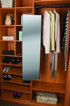 Pull Out Closet Mirror, Synergy Elite Collection, Matt Aluminum