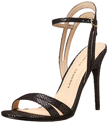 Chinese Laundry Womens Lilliana Snake-Embossed Dress Sandal Black CXIuk