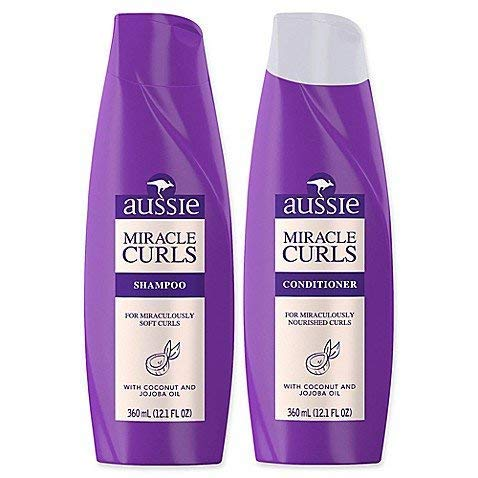 Amazon Com Aussie Miracle Curls Shampoo And Conditioner Set 12 1 Oz Each Beauty