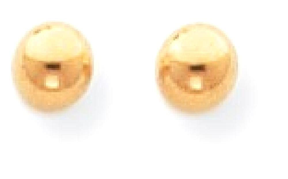 14k Yellow Gold 4mm Ball Screwback Earrings Button Fine Jewelry Gifts For Women For Her