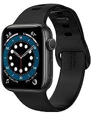 Spigen Compatible for Apple Watch Series 7/6/SE/5/4/3/2/1 Strap Silicone Fit - Black