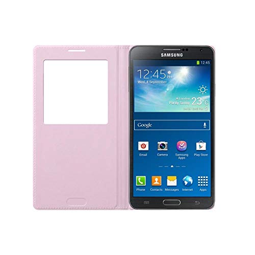 Original OEM Samsung Galaxy Note 3 S View Cover - Pink (Bulk Packaging)