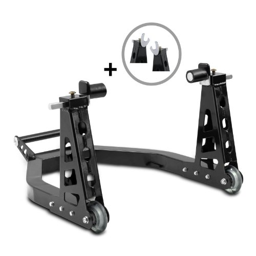 Motorcycle paddock stand rear ConStands Superlight Universal with carbon handle