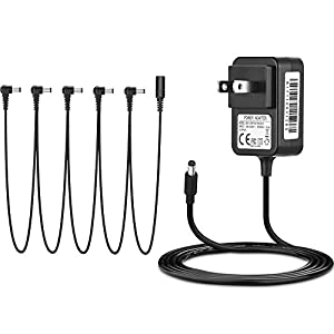 IBERLS 9V Power Supply Guiter Effects Pedal AC Adapter DC Cable 1 to 5 Way Daisy Chain Power Cord Boss/Digitech / Behringer/MXR / Ibanez/Zoom / EBS/Guyatone / BIYANG/JOYO