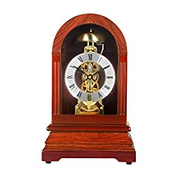 HENSE Chiming Regulator Mechanical Wind-Up Desk Table Mantel Clocks Living Room Decorative Solid Wood Clocks HD326