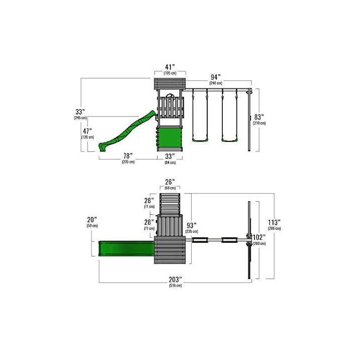 41yJRQT9CqL XXL Torre de escalada con 3 niveles para su jardín con XXL cajón de arena - Calidad y seguridad verificadas Madera maciza impregnada a presión - Viga de columpio de 9x9cm, postes verticales de 7x7cm - Made in Germany 10 años de garantía* para todos los elementos de madera - Instrucciones de montaje detalladas para un montaje fáci