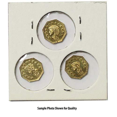 (3) 1851-1858 California Gold 1/2 Replica Zinc-Copper Alloy ()