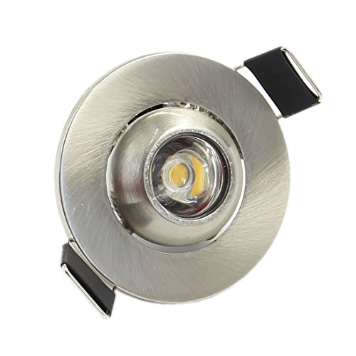 LEDIARY 3W LED Light 200 Lumens Mini COB Recessed Ceiling Downlight Angle Adjustable Cabinet/Wine/Jewelry Spot Lamp