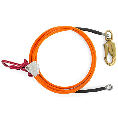 Happybuy Steel Wire Core Flip Line Kit 1/2'' X 12' Wire Core Flipline with Triple Lock Carabiner and Steel Swivel Snap Wire Core Flipline System for Arborists Climbers Tree Climbers (1/2'' X 12') by Happybuy (Image #1)