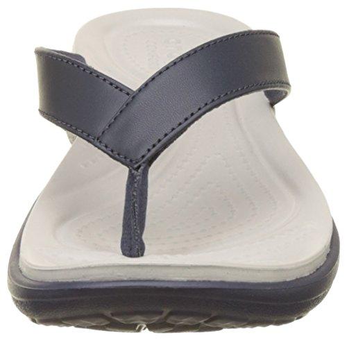 Women pearl Flip Blu White V Infradito navy Donna Capri Crocs pF4wxx