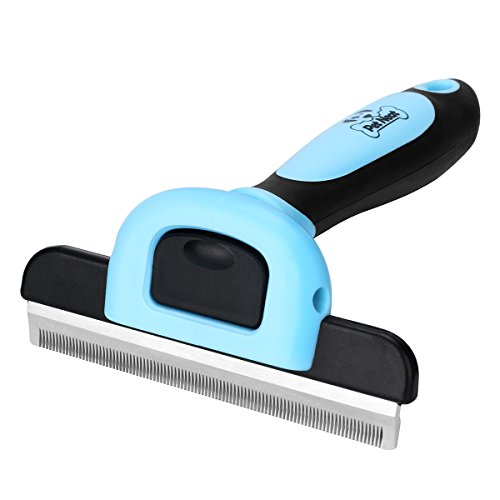 Pet Grooming Brush Effectively Reduces Shedding by Up to 95% Professional Deshedding Tool for Dogs & Cats ()