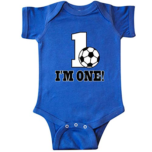 - inktastic - First Birthday Soccer 1 Infant Creeper 18 Months Royal Blue 32e65