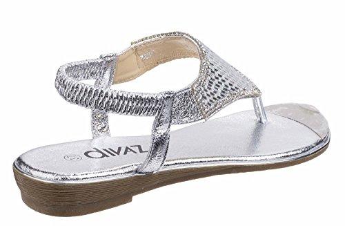 pour Sandales Femme Silver Sandales pour Divaz Divaz Femme FnWEqI
