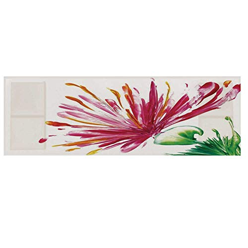 Watercolor Flower House Decor Microwave Oven Cover,Opened Out Asiatic Oriental Lily Freesia Florets Home Art Cover for Kitchen,36