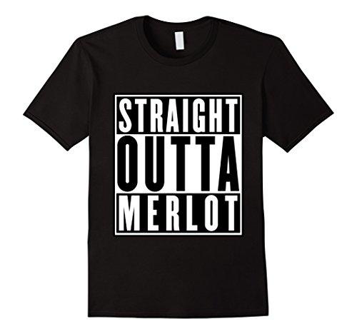 Merlot Wine Club - Men's Straight Outta Merlot Funny Wine Tee Shirts Women Men 2XL Black