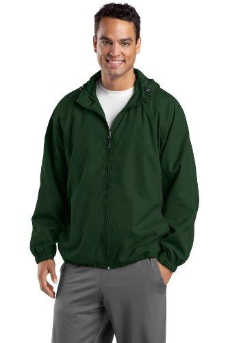 hombre Verde Sport con raglán Tek bosque capucha chaqueta nx7f1q6