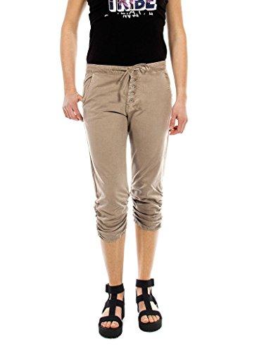 Unie Normale Normale Taille Pour 754 Carrera 172 Gabardine Tissu Capri Jeans Beige Femme Style Couleur Pantalon C8xFxq