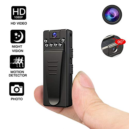 Night Vision Hidden Camera HD 1080P Mini Sports Camera Waterproof Multifunction Camera Portable Spy Secret Gadget Stealth Action Hidden Night Vision Alarm.