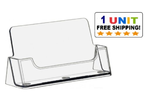 Business Card Holder - Clear Plastic Acrylic Business Card Holder Display (1pcs)