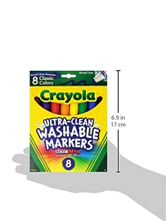 Broad Tip 8 Count Classic Colors Pack of 3 Crayola Washable Markers