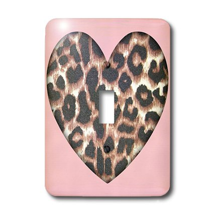 3dRose LLC lsp_30869_1 Pink and Brown Leopard Print Animal Prints Fashion Single Toggle Switch by 3dRose