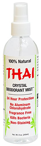 (Thai Deodorant Stone Crystal Mist Natural Deodorant Spray 8 oz. Bundle, Pack of 4)