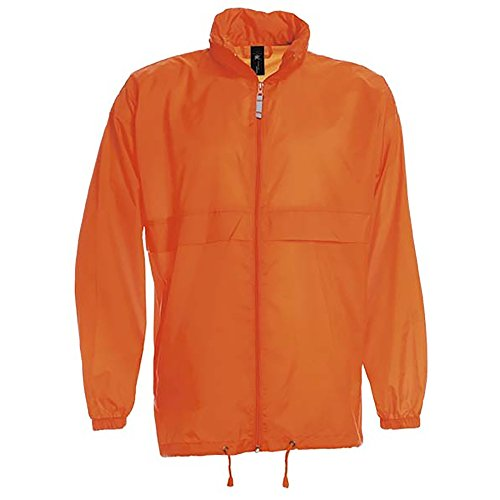 B&C Sirocco Mens Lightweight Jacket/Mens Outer Jackets (XXL) - Windbreaker Orange