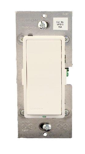 (Leviton VPS15-1LZ, Vizia + Digital 15A Electronic Switch, Single Pole or 3-Way, White/Ivory/Light Almond)