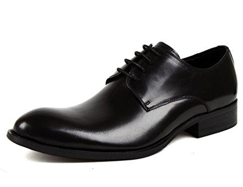 Hombre Zapatos 5 Clásicos Cuero Piel Formal uk7 Los La Estilo Para Eu42 Tamaño De Respirable Negro Color Moda Hombres Británica wwdrHqI