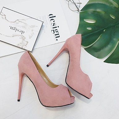 green us5 Slingback PU 3 Women's LvYuan Blushing eu35 Casual Heels Spring 3 Slingback 3in cn34 ggx Fuchsia Pink Green Ruby uk3 Black 4in 0qxxIUHC