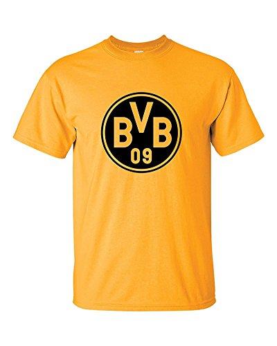 jinbaolong Borussia Dortmund Germany Mens T Shirt Tee Tops Premium High End (Hot Gold, - Shirt Dortmund Borussia