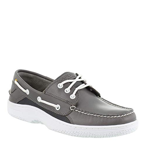 SPERRY Men's Billfish 3-Eye Boat Shoe, Grey, 8 M - Loafer Hand Sewn